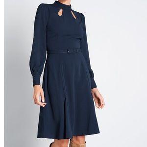 ModCloth Navy long sleeve dress